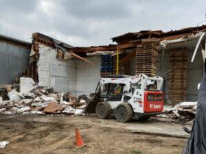 bobcat on demolition site