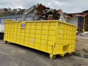roll off dumpster bins on site